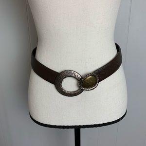 Chico's Leather Adjustable Belt-S/M